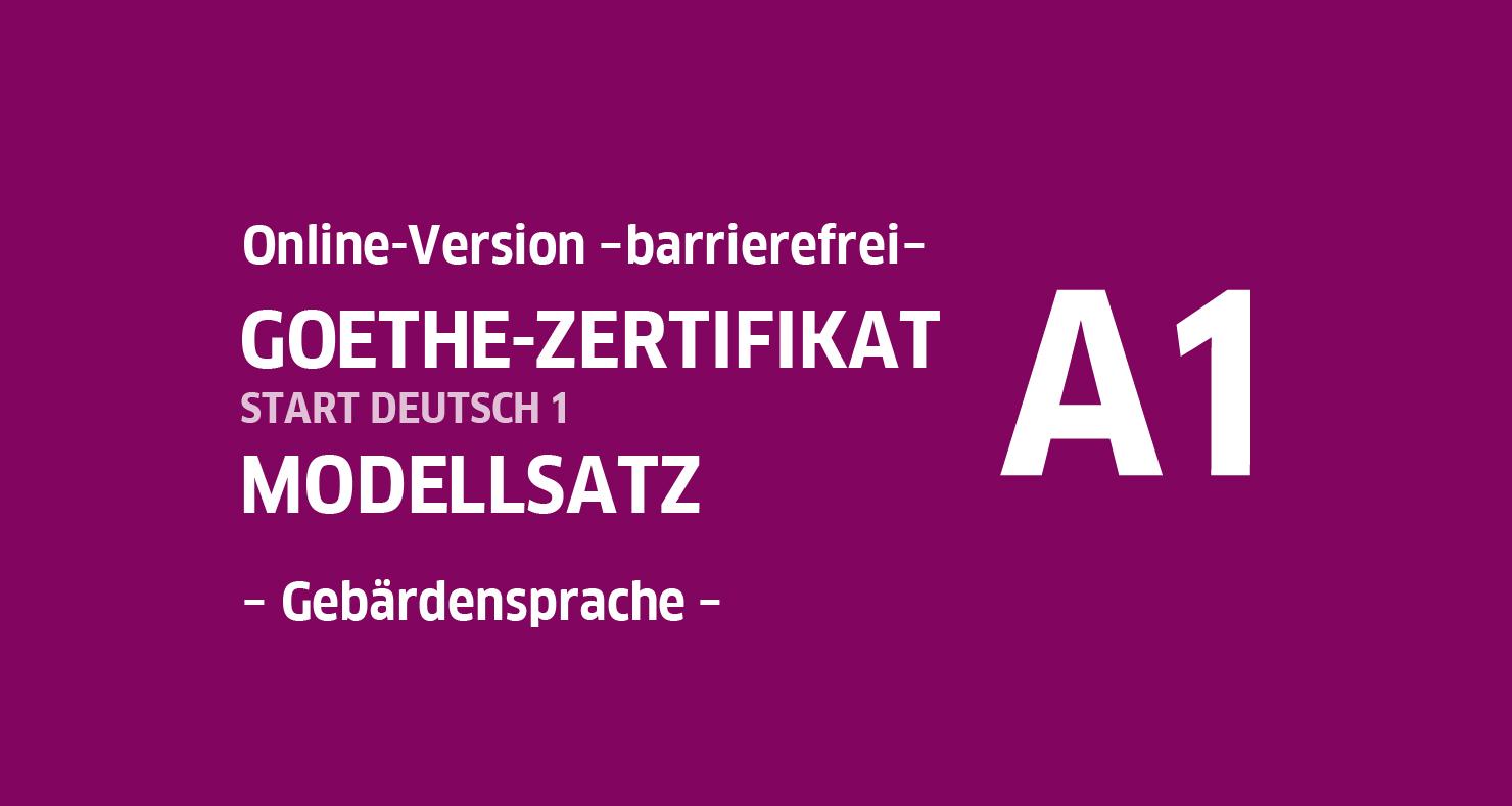 Goethe Zertifikat A1 Hören