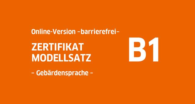 Goethe Zertifikat B1 Modellsatz Hören