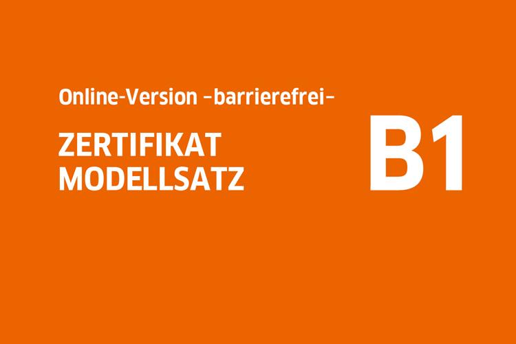 Goethe Zertifikat B1 Modellsatz