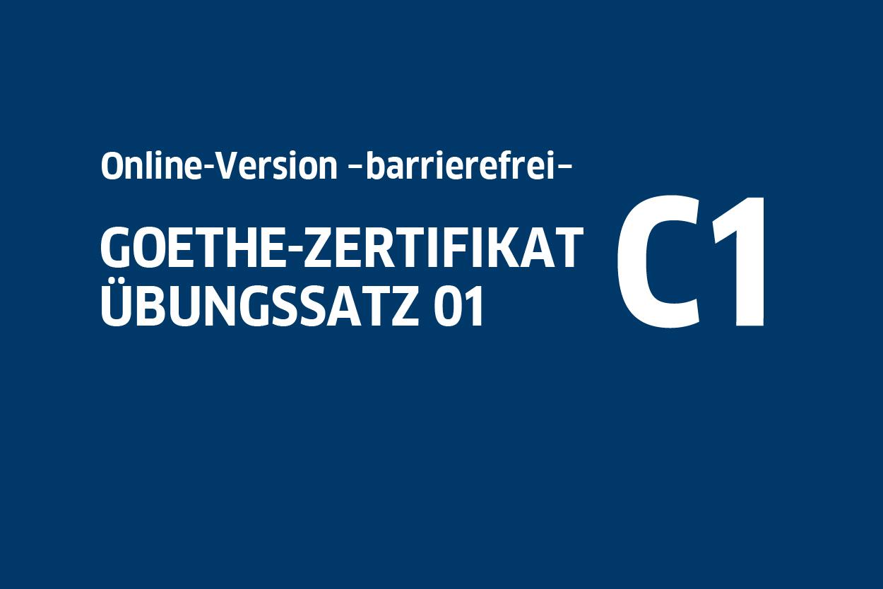 Goethe Zertifikat C1 übungssatz 01