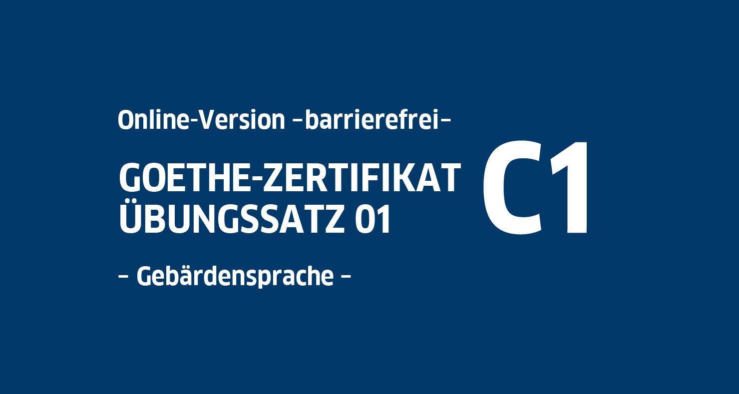 Goethe Zertifikat C1 Hören
